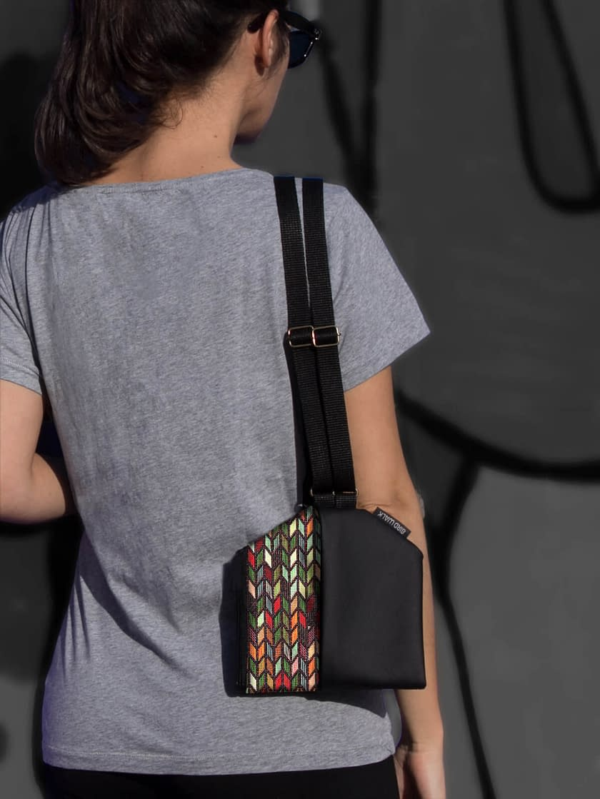 designer bag convertible to backpack made in Portugal