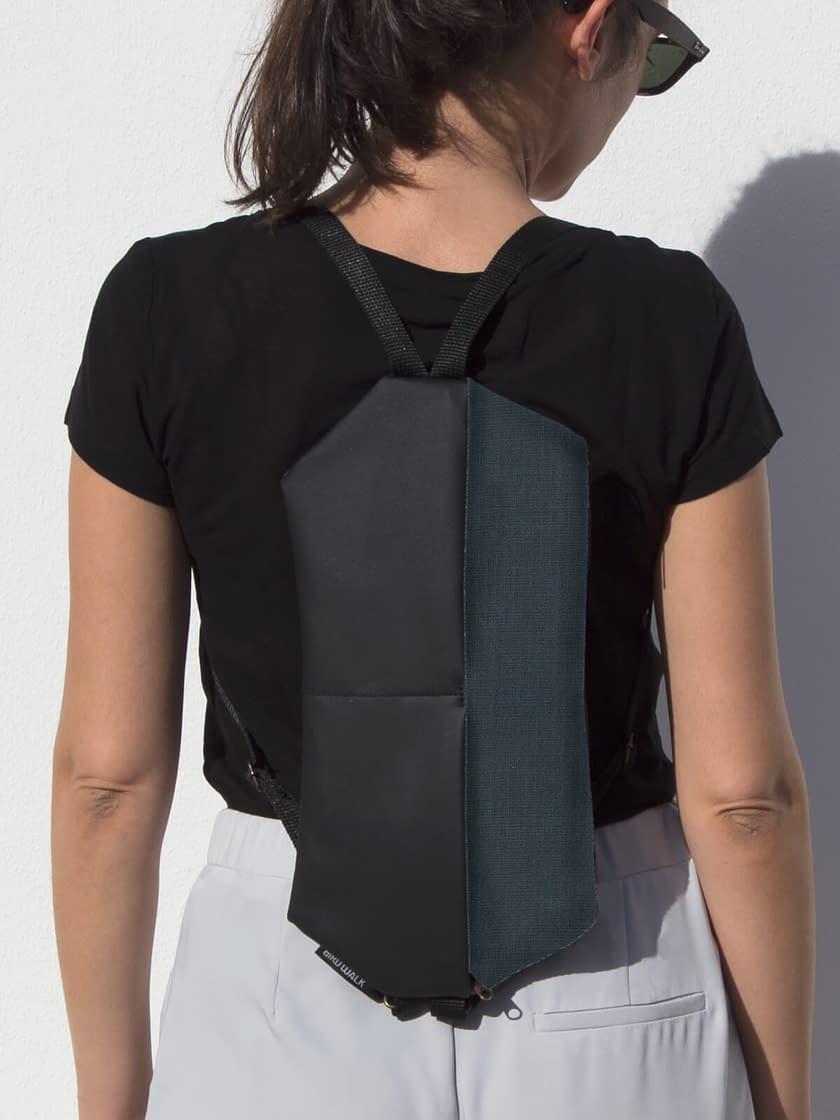 waterproof backpack crossbody bag vegan anti theft made in portugal