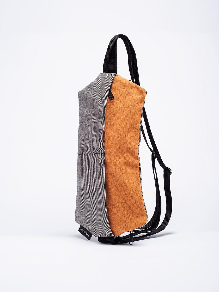 birdwalk backpack handbag orange cotton01a