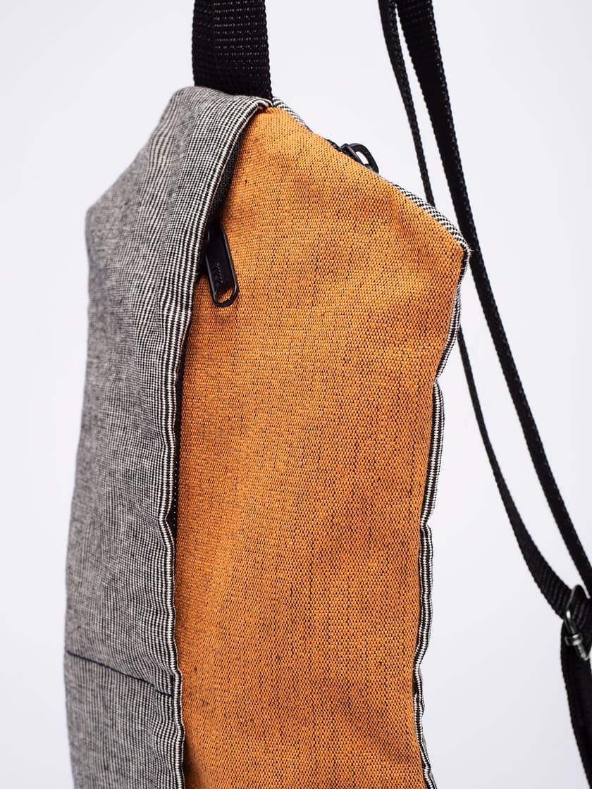birdwalk backpack handbag orange cotton02